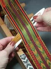 Traditional Inkle Loom Weaving class at True Nature Farm - Sustainable Living & Wilderness School, Boulder, Utah
